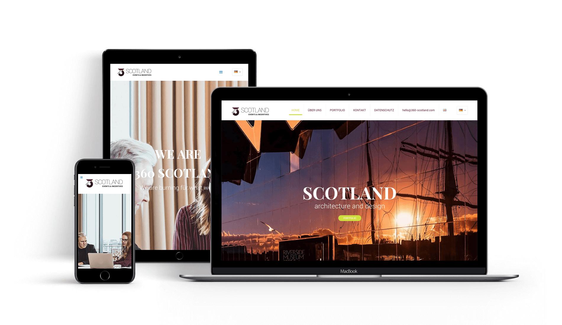 Webauftritt 360 Scotland