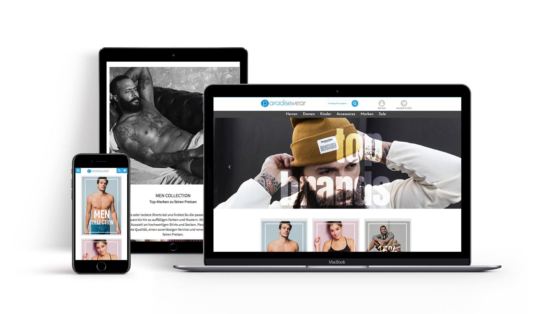 Webdesign Chemnitz | Onlineshop Paradisewear